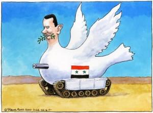 assad cartoon- peace