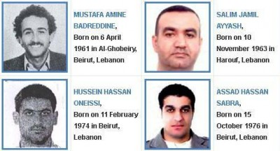 Suspects in hariri murder