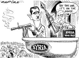 cartoon assad  russian veto