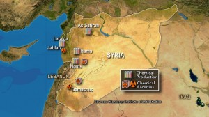 syria chemical weapons map 2