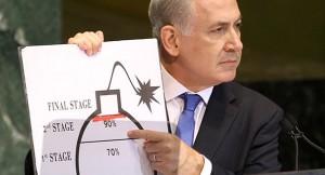 netanyahu  Iran nuclear bomb chart