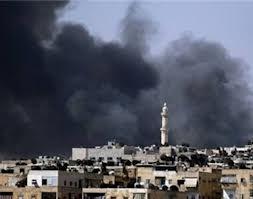 yarmouk camp bombed by Syrian warplanes