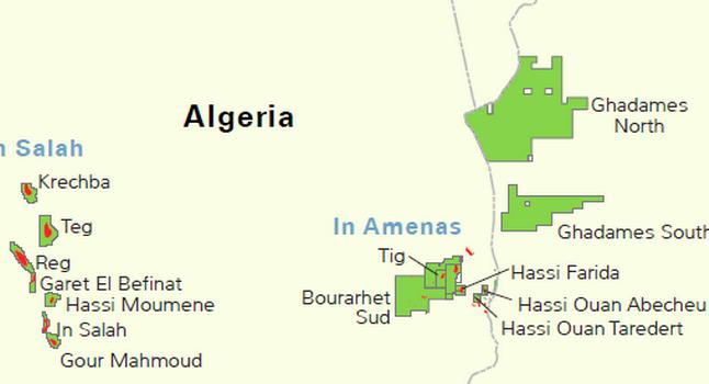 algeria in amenas map