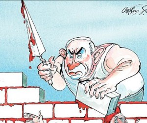 netanyahu building Israeli wall