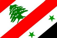 lebanon syria flags