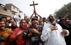 Christian Pakistanis  Protest