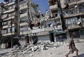 syria residential destruction by air