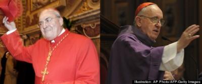Cardinal  Leonardo Sandri (left) and Pope Francis