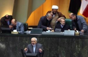Javad Zarif at parliament