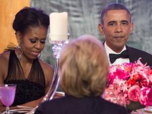 obamas with Barbara walters