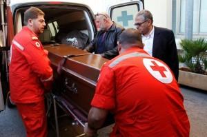 Abbas Khan  coffin in beirut