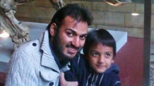 Dr. Abbas Khan with his son