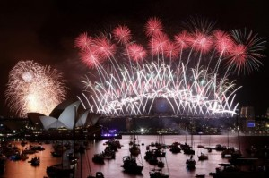 Sydney Harbor , Australia fireworks