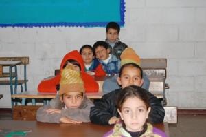 Syrian refugee Children at school