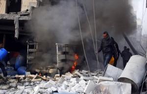 aleppo air strike kills children