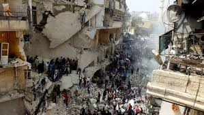 aleppo syria destruction from air strikes