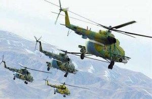 barrel bombs  - helicopters