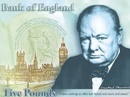 churchill 5 pound note