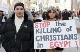 coptic christian protestors