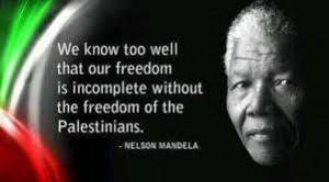 mandela on palestne