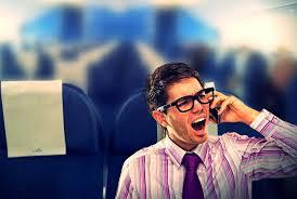 mobile phone on plane