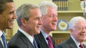 Four US presidents attended the memorial service