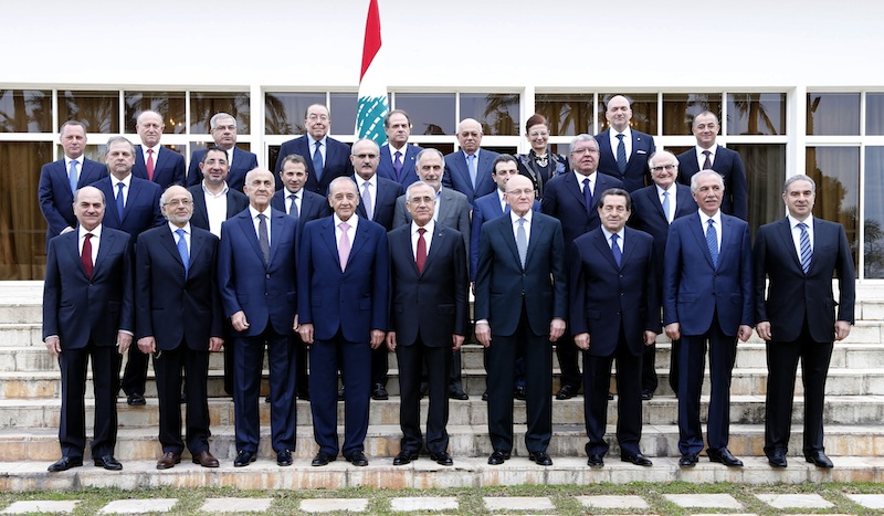 The new cabinet of Prime  Minister Tammam Salam  that was announced on February 15, 2014