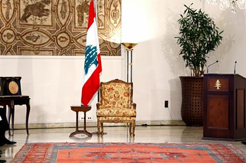 Baabda presidential chair awaits the new occupant of the palace . Lebanon has been without a president since May 25th 2014
