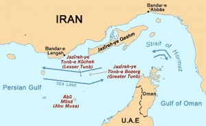Iran occupies 3 UAE islands :  Abu Musa, Greater Tunb and Lesser Tunb. They were occcupied during the Shah era in 1971 but the current regime refuses to return them to the UAE