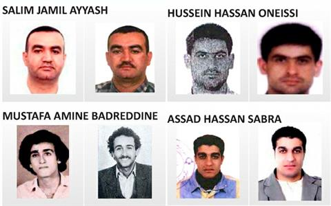 The other four Hezbollah suspects in the assassination of former PM Rafik Hariri