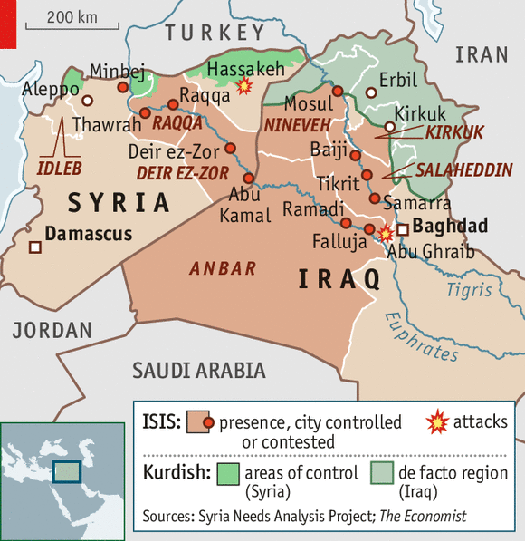iraq syria map