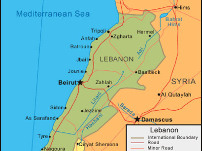 lebanon map 2