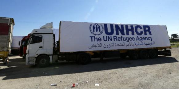UNHCR aid truck
