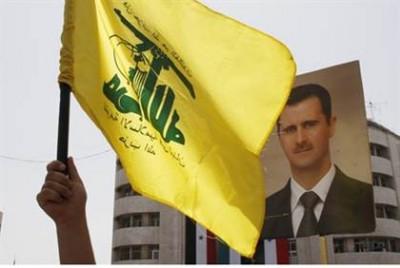 hezbollah flag  assad