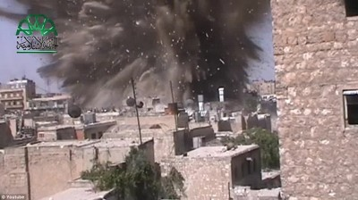 tunnel bomb aleppo