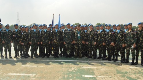 Filipino peacekeepers at the Golan Heights