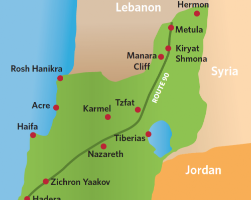 Lebanon Israel map