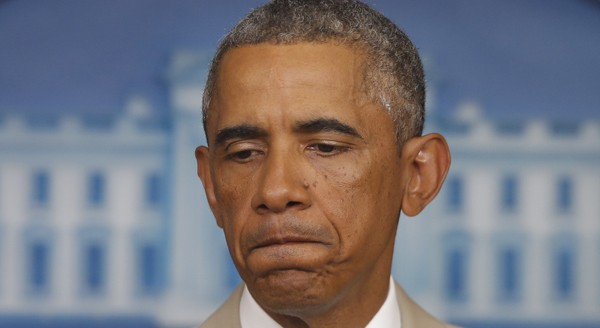 President Barack Obama speaks in the James Brady Press Briefing Room at the White House in Washington, Thursday, Aug. 28, 2014, before convening a meeting with his national security team on the militant threat in Syria and Iraq. (AP Photo/Charles Dharapak)