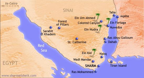sinai-peninsula-map egypt