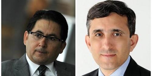 Adem Yavuz Arslan (L) and Ali Aslan journalists