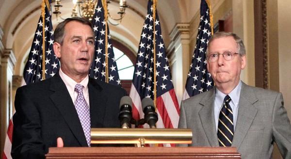 Both House Speaker John Boehner (R., Ohio) (  LEFT )  and Senate Minority Leader Mitch McConnell (R., Ky.)