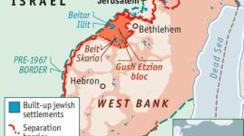 Etzion Jewish settlement near Bethlehem