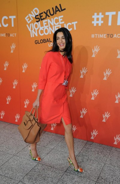 Amal Alamuddin joined Angelina Jolie at the End Sexual Violence in Conflict summit in London