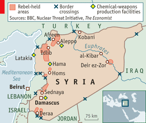 kobani syria map