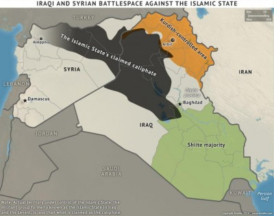 map ISIS caliphate