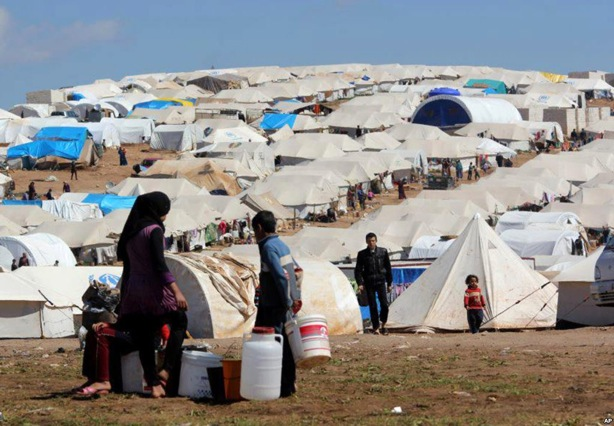 A Syrian refugee camp in the eastern Lebanese border town of Arsal (photo credit: AP/Bilal Hussein/FIle)