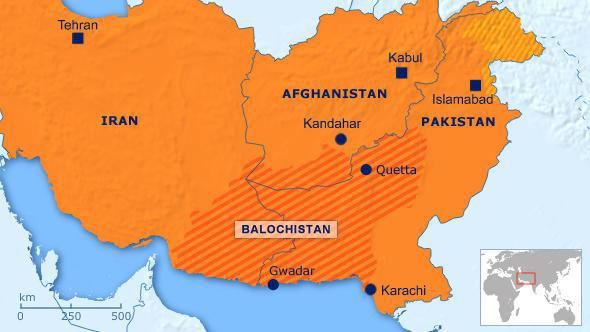 Iran Pakistan balochistan-map