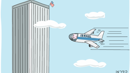 netanyahu 911 cartoon