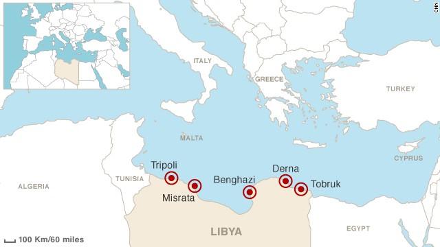 Derna libya map