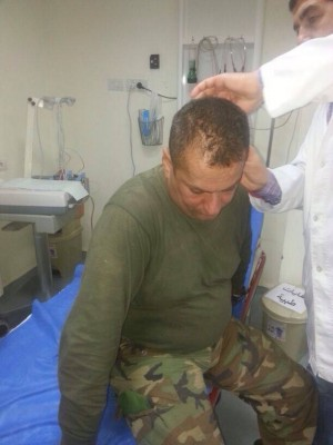 Lebanese Army Colonel   Said Mashmoushi who was injured in the roadside  bomb blast is being treated at a hospital